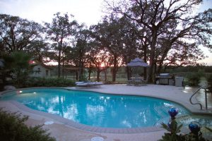 Real Estate Photography of Backyard With Pool
