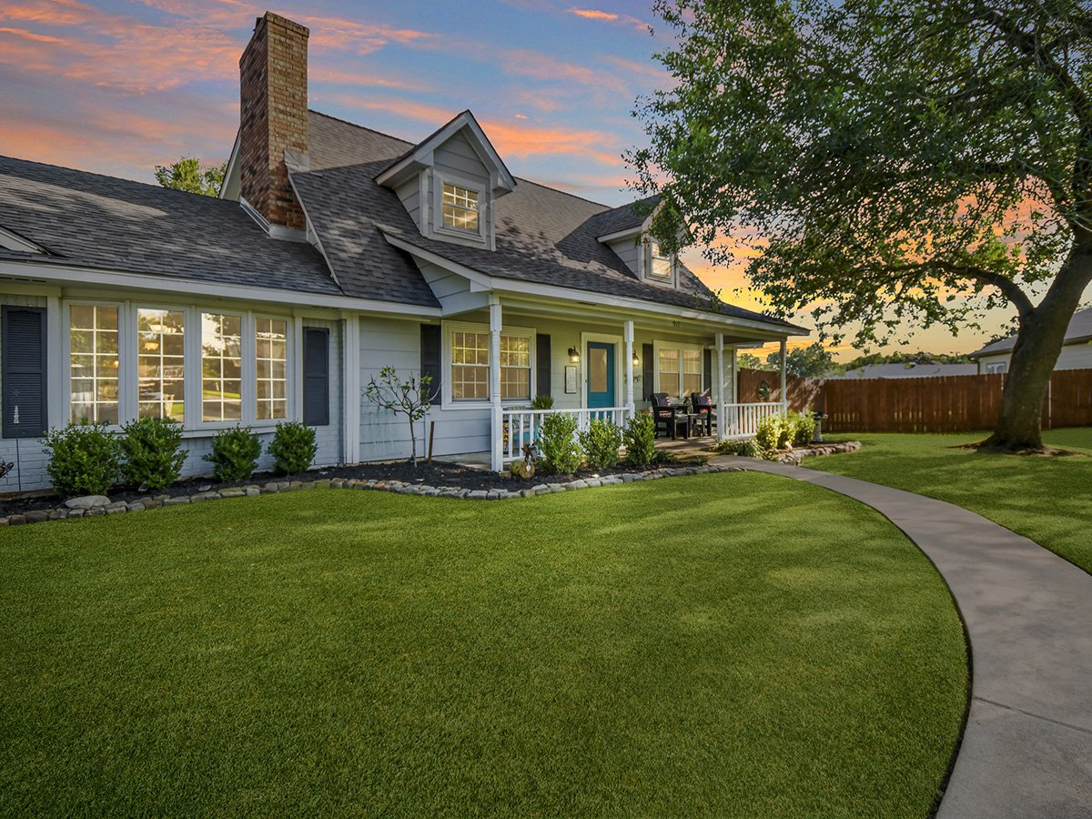 Real Estate Photography of Home at Dusk